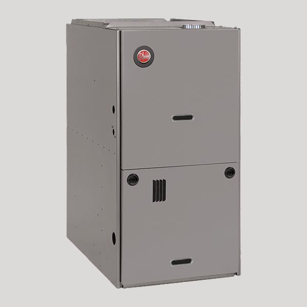 Rheem R801S downflow gas furnace.