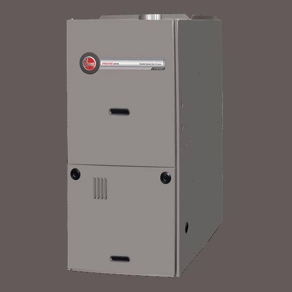 Rheem R802V downflow gas furnace.