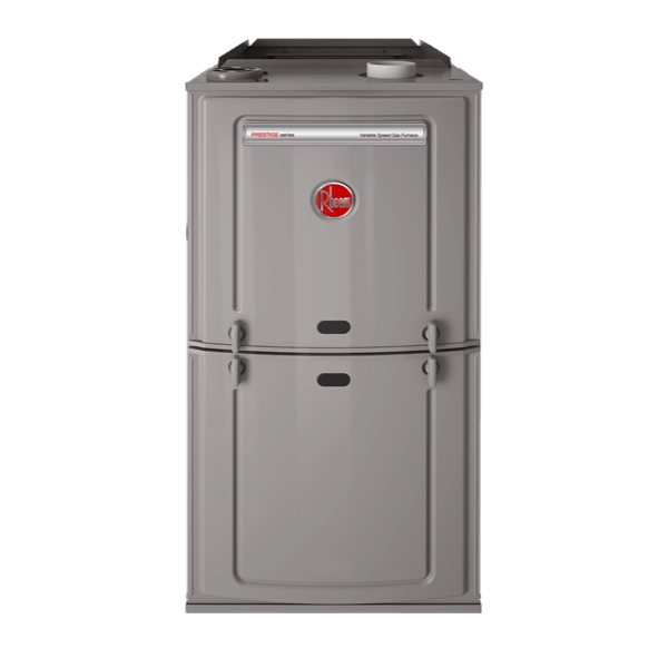 Rheem R802V upflow gas furnace.