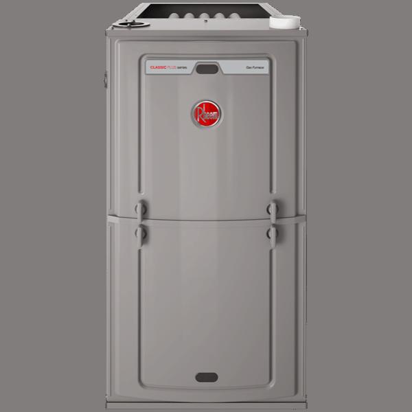 Rheem R96T gas furnace.