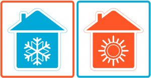 hot and cold homes.