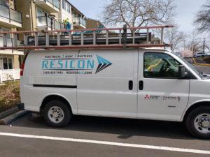 Company Van On the Job-1025