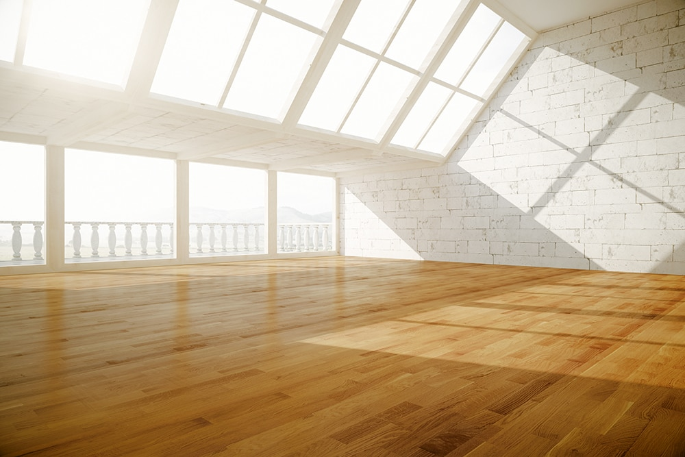 wood floor interior.