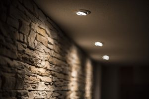 recessed lighting.