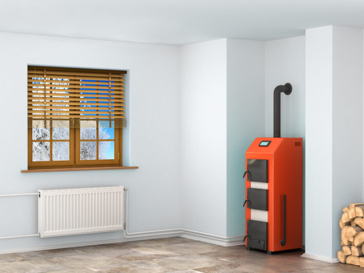the boiler in the room