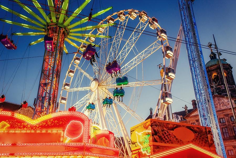 amusement park carousel.