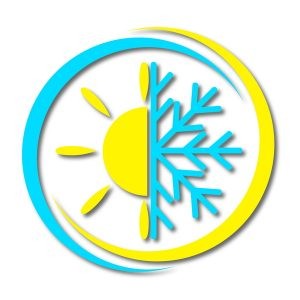 sun and snowflake.